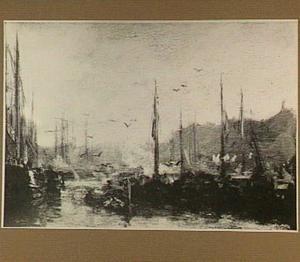 Haven met schepen