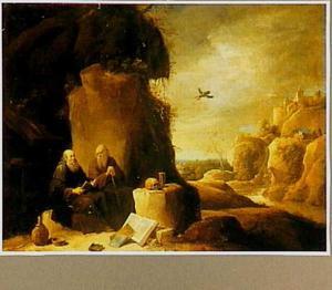 H. Antonius Abt bezoekt H. Paulus de Heremiet in de woestijn