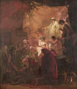 Inwijding van een lid van de Schildersbent in Rome