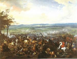 Het beleg en ontzet van Turijn, 7 September 1706 : Eugenius van Savoie verjaagt de  belegerende Franse troepen onder Louis de la Feuillade en de hulptroepen onder Philippe, hertog van Orléans van Turijn