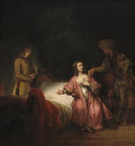 Potiphars vrouw klaagt Jozef aan bij haar man (Genesis 39:17-19)