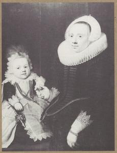 Dubbelportret van waarschijnlijk Maria Jansdr. van der Graft (....-....) en haar zoontje Johan Gael (....-....) of Jacob Gael (....-....)