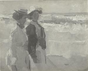 Twee meisjes op het strand