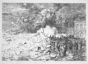 Kruien van het ijs voor de Sabelspoort te Arnhem 6 maart 1855