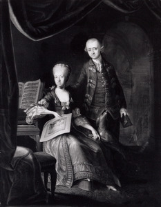 Dubbelportret van Nicolaas Martinus Boogaert van Alblasserdam 1737-1825) en Lydia Cornelia van Riel (1744-1814)