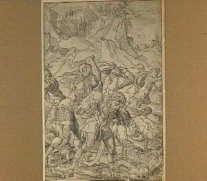 Simson verslaat de Filistijnen met een ezelskinnebak (Richteren 15:4-5)