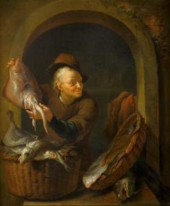 Visverkoper in een nis