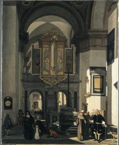 Gezicht op het orgel in een kerk