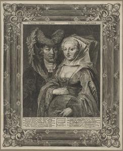 Dubbelportret van Ansegisus en de heilige Begga van Brabant