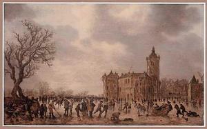 Winterlandschap met kasteel Montfoort