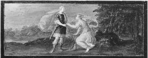 Venus tracht Adonis te weerhouden