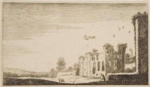 Ruïne van kasteel Rossum, gezien vanuit het zuidoosten