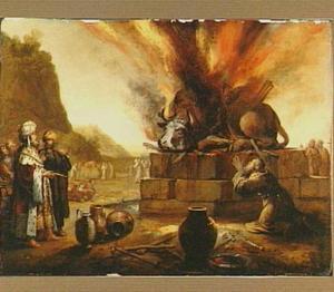Op Elia's voorbede doet God niet alleen zijn offerstier op de berg Karmel ontbranden doch ook het gehele altaar  (1 Koningen 18:36-40)
