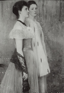 Dubbelportret van Johanna des Tombe (1880-....) en Susanna Civile Sophie des Tombe (1882-1900)
