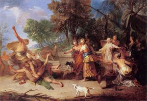 Mozes verdedigt de dochters van Jetro (Exodus 2:16-17)