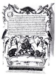 Groteske decoratie met Orpheus en de dieren