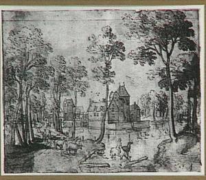 Landschap met het kasteel te Revieren