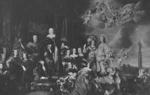 Hertog Frederick III van Schleswig-Holstein-Gottorf en zijn familie bij het vredesfeest van 1652