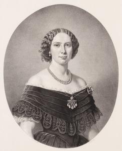 Portret van Louise van Oranje- Nassau (1828-1871)