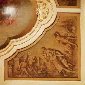Aeneas ontvlucht het brandende Troje met Anchises en Ascianus
