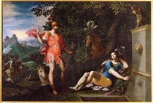Tancredi en Clorinda bij de fontein