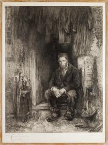 Zoon van het oude volk (ets naar een schilderij van Jozef Israels)