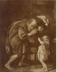 Diogenes zoekt met een lataarn een eerlijk mens