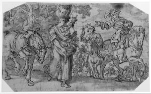 Koning Darius van Perzië en de jonge vrouw uit Paeonië