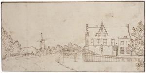 De Nieuwe Tolbrug en het Huis Burchvliet bij Rijswijk, gezien vanuit het noordoosten