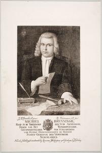 Portret van Michiel Bruyningh (1690-1773)