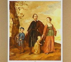 Portret van Wilhelmus Suerendonck en Susanna Brossaert en hun zoons Andreas en Petrus