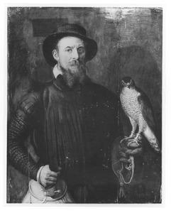 Portret van een jager met een valk