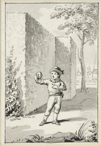 Illustratie voor 'De perzik' in de Kleine gedichten voor kinderen door H. van Alphen