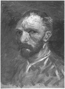 Zelfportret driekwart naar links