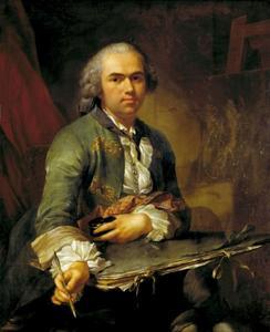 Zelfportret op jonge leeftijd van Johan Heinrich Tischbein (1722-1789)