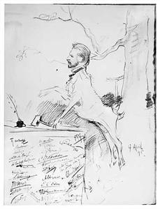 Théophile de Bock als voorzitter van de Haagse Kunstkring