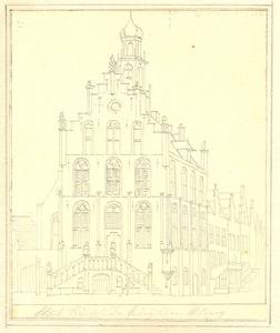 Schets van het stadhuis van Culemborg