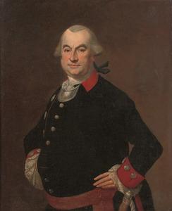 Portret van Jacob Hendrik van Suchtelen (1722-1787), stadsarchitect van Nijmegen in militair kostuum