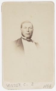 Portret van C.J. Visser
