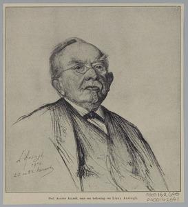 Portret van Prof. August Allebé