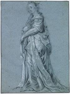 Staande vrouw, naar links