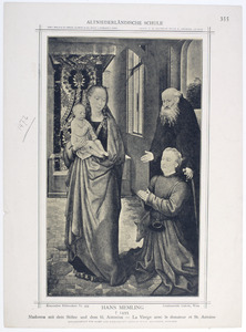 Staande Maria met kind en de H. Antonius met stichter