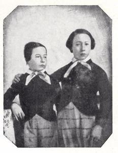 Portret van Johan Wolfgang Carel von Römer (1835-1879) en Anton Reinhardt von Römer (1836-1911)