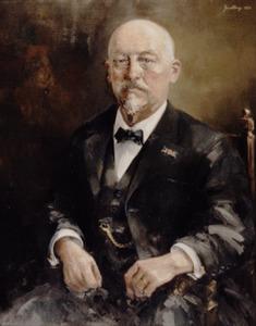 Portret van V.A.M. van de Heuvel