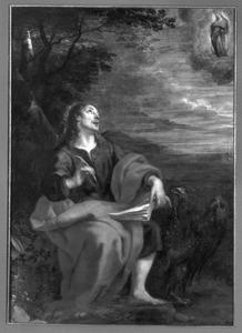 Het visioen van de vrouw in de maan van Johannes de Doper op Patmos