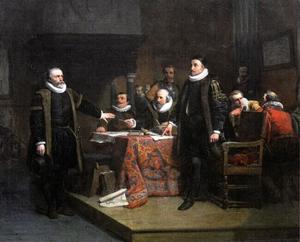 Ontmoeting van Willem I 'de Zwijger' van Oranje met Huig Jansz. van Groenewegen