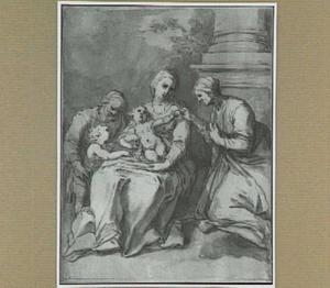 H. Familie met Johannes de doper als kind en de H. Elizabeth