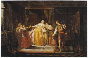 De dood van Sofonisba: zij ontvangt Massinissa's gifbeker (Livius, 30:15)