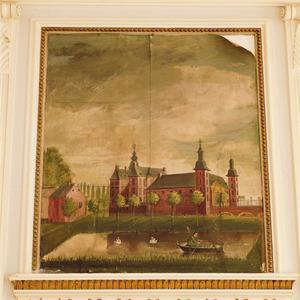 Kasteel Neubourg met vijver en roeibootje