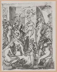 Zeuxis schildert Helena van Troje